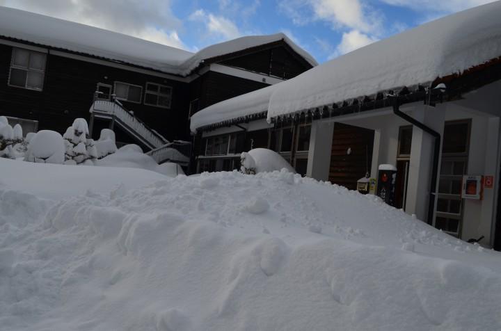 交流センター周辺の積雪状況です。R3.1.8.PM2